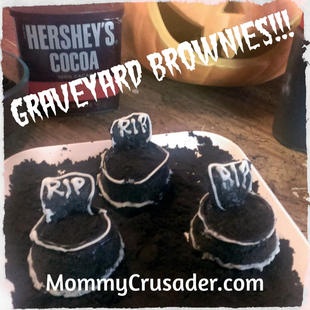 Graveyard Brownies from Mommy Crusader and Her Knights and Ladies