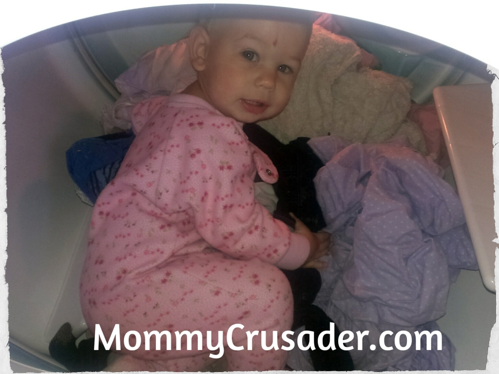 Hiding in the dryer | MommyCrusader.com