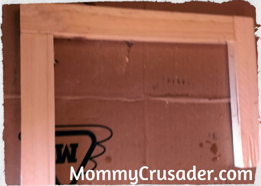 The Completed Wood Frame | MommyCrusader.com