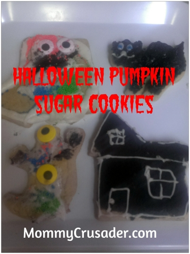 Halloween Pumpkin Sugar Cookies | MommyCrusader.com