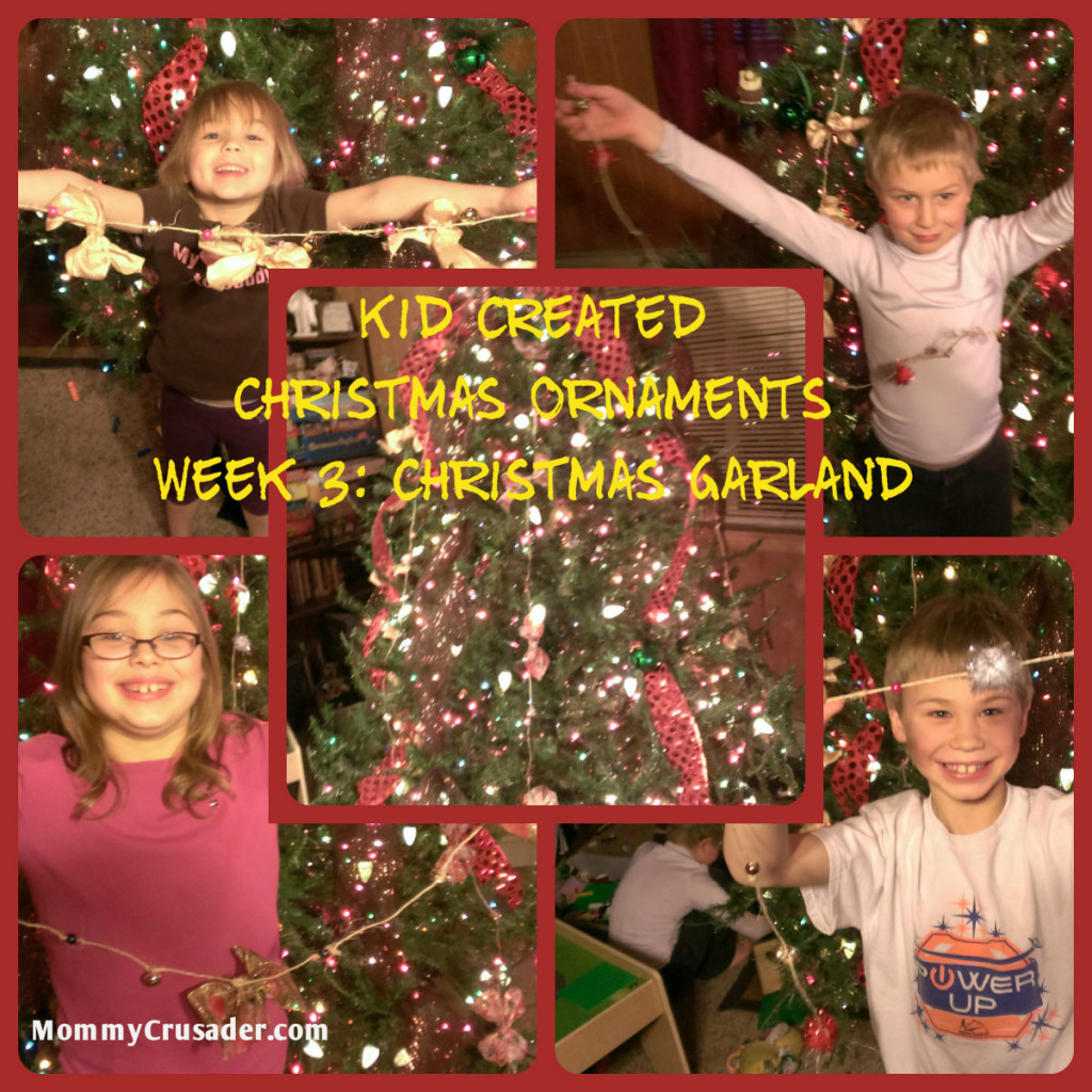 Kid Created Christmas Ornaments Week 3: Christmas Garland | MommyCrusader.com