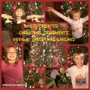 Kid Created Christmas Ornaments Week 3: Christmas Garland | MommyCrusader.com