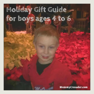 holiday gift guide boys, ages 4 to 6 | MommyCrusader.com