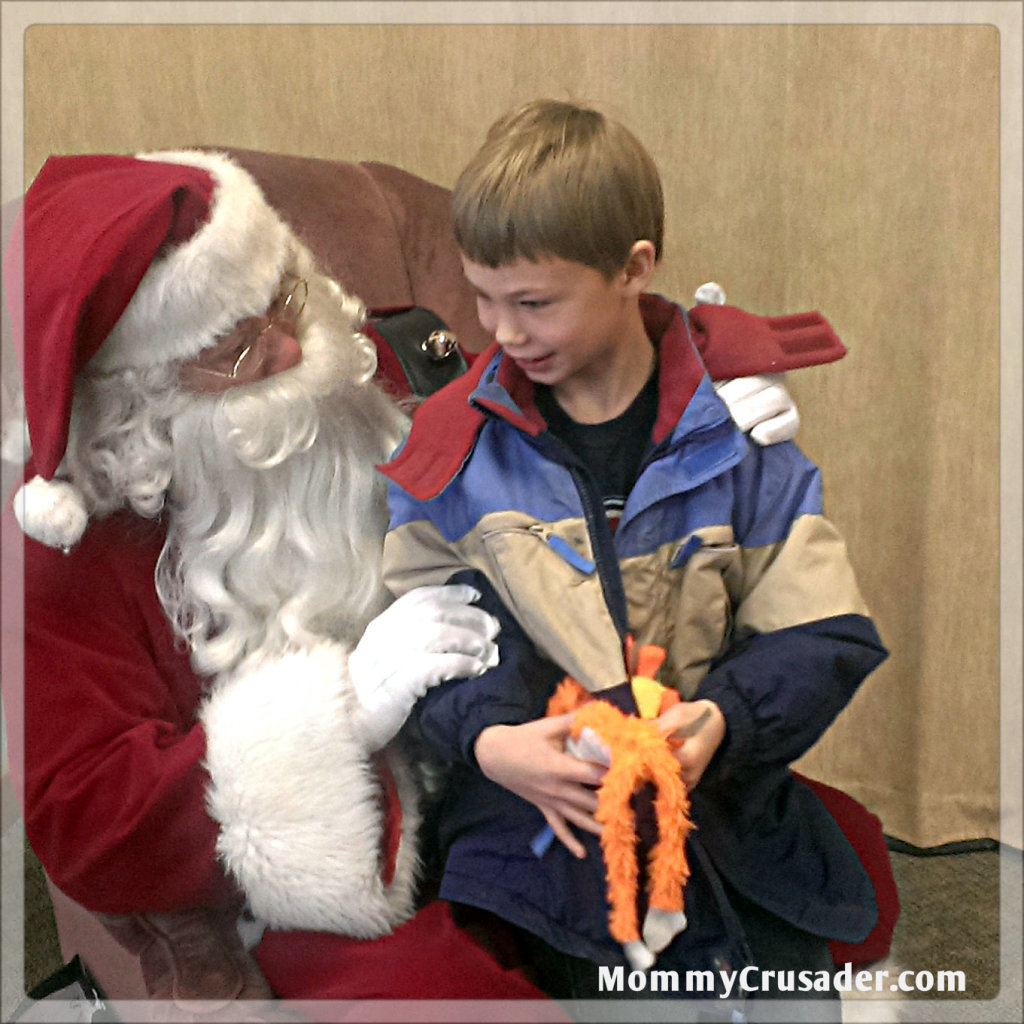 A  Visit with Santa | MommyCrusader.com