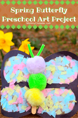 This whimsical butterfly is super easy to make, even for little ones, and brings a bit of spring time magic inside.