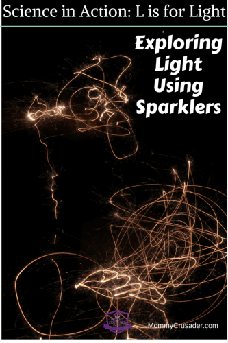 This Science in Action: L is for Light activity uses sparklers and a digital camera to capture light and start discussion of what light is and how we see.